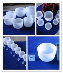 Wholesale Quartz Products: Frosted Crystal Singing Bowls
