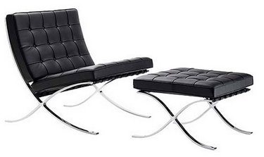 Modern Bauhaus Barcelona Chair Lounge Sofa