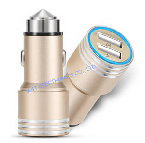 Wholesale usb car charger: 12W USB Car Charger, 5V 2A USB in-car Charger, Dual USB Ports Car Charger