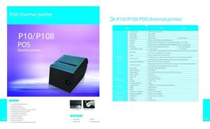 Wholesale thermal printer: Thermal Printer PosOuda P10