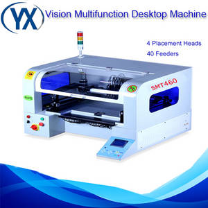 Wholesale camera dsp chip: Automatic Desktop Pick and Place Machine SMT460 SMT Production Line,0402,0603,0805,1206
