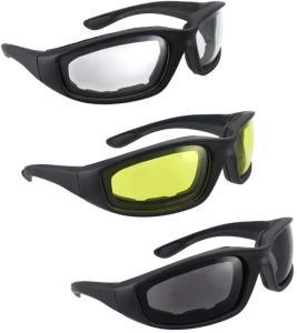Wholesale smoke: HiSurprise 3 Pair Motorcycle Riding Glasses Smoke Clear Yellow