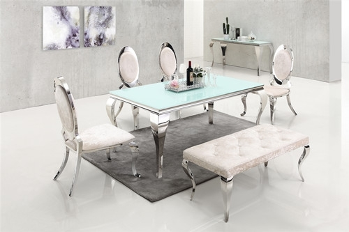Dining Room Furniture Tempered Glass Wedding Dinning Table