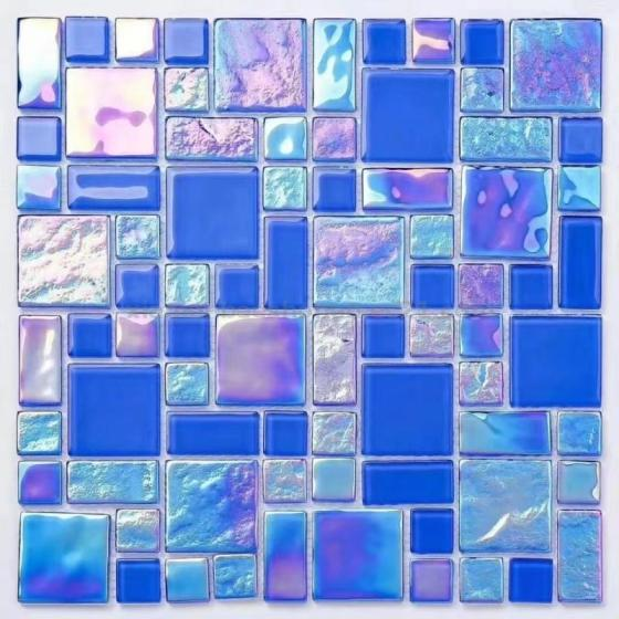 Crystal Glass Mosaic Tile for Swimming Pool and Wall Tile Price