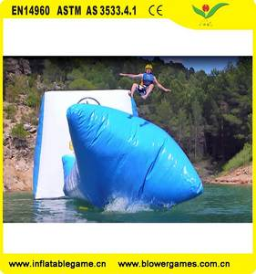 Wholesale inflatable pillow: Amazing Water Game Equipment Water Trampoline Inflatable Water Jumping Pillow