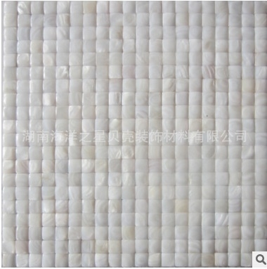 Freshwater Shell Pure White Arch Squre Mosaic Tile