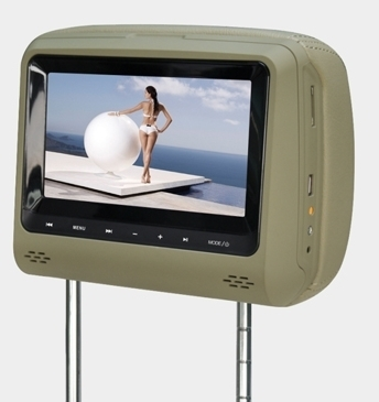 Sell  car Headrest Monitor with DVD/USB/SD/IR/FM/Speakers