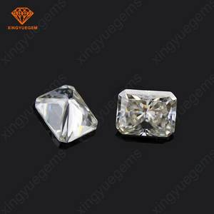 Wholesale gemstone: China Factory Customized Make Octagon Shaped Radiant Brilliant Cut Super White Moissanite Gemstone
