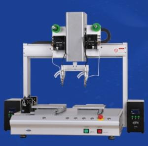Wholesale transformer automatic casing machine: XHL-H8331R 8-Axis Desktop High Efficiency Automatic Soldering Machine