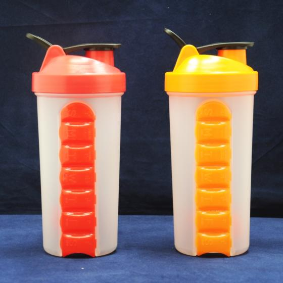 Sell 600ML SHAKER BOTTLE WITH 7 DAYS PILL CONTAINER