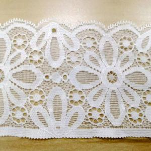 Wholesale trimming lace: French Wedding 3D Flower Crochet Border Lace Trim Embroidery