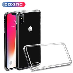 Wholesale screen protector packaging: Mobile Phone Case Crystal Clear PC Tpu Hybrid Phone Case for Iphone Xs Max