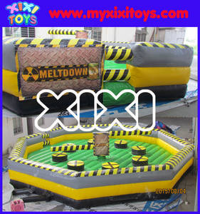 Wholesale inflatable games: XIXI 2016 Popular Inflatable Sport Games Wipeout&Meltdown