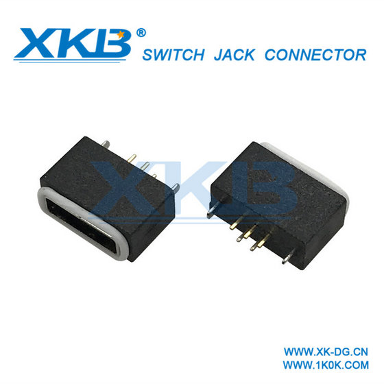 Vertical with Screw Hole To Secure USB Connector