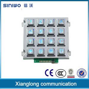 Wholesale digital security: 4x4 Rugged Numeric Illuminated Backlit Metal Digital Keypad Lock|security Door Lock Keypad