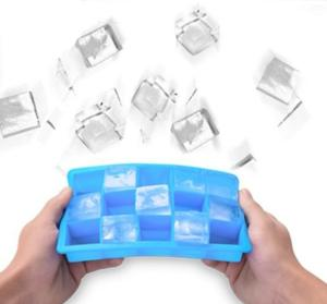 Wholesale silicone molds: Custom 15 Cavity Silicone Ice Cube with Lid Food Grade Square Ice Cube DIY Mold