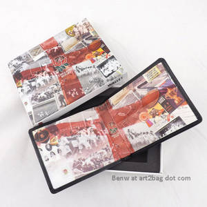 Wholesale leather wallet for men: Leather Print Wallet