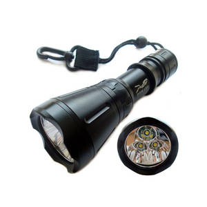 Wholesale Underwater Lights: SCUBA TOOKE D4 3*T6 LED 3000Lumen Diving Flashlight Torch
