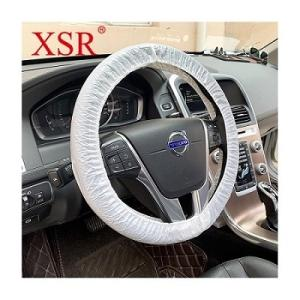 Wholesale wheel cover: Plastic Disposable LDPE for Car Repair Steering Wheel Cover