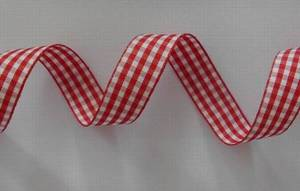 Wholesale Ribbons: Red/White Check Ribbon