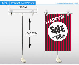 Wholesale metal poster stand: Supermarket Counter Metal Poster Stand