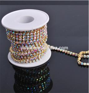 Wholesale rhinestone crystal: Enough Stock SS12 SS20 AB Crystal Rhinestone Cup Chain Wholesale