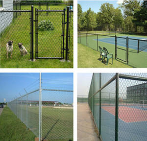 Wholesale chain link fly screen: Galvanized and PVC Coated Chain Link Fence