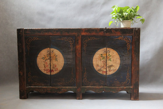 Chinese Antique Furniture Wood Tibet Cabinet image - Chinese Antique Furniture Wood Tibet Cabinet(id:7775516) Product