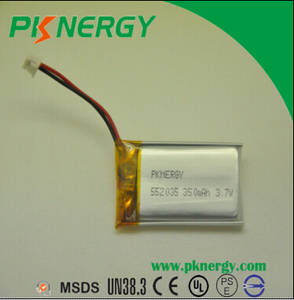 Wholesale lipo battery: Factory Price LP552035 370mah 3.7v Lithium Polymer Lipo Battery Rechargeable