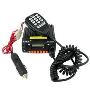 Wholesale transceiver: QYT KT-8900R Mini Car Radio VHF/UHF Tri-band 25W 200CH Scramble FM 8900r Car Mobile Transceiver