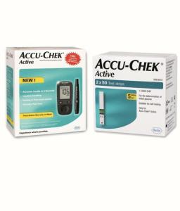 Wholesale test strip: ACCU CHEK Active Glucose Monitor with Test Strips New Stock Free Shipping
