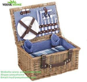 Wholesale picnic set: 2person Wicker Picnic Basket
