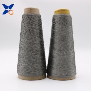 Wholesale steel metal military: Grey NM11/2plies 100% Stainless Steel Staple Fiber Ring Spun Yarn for Glass Mould Car Metal-XT11817