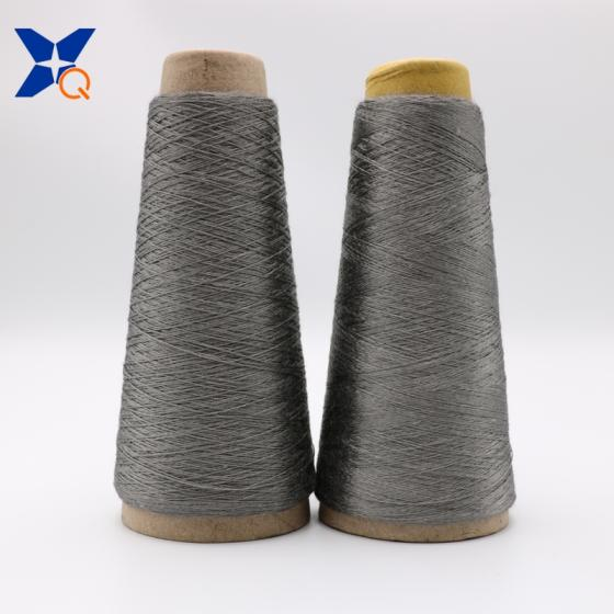 Grey NM11/2plies 100% Stainless Steel Staple Fiber Ring Spun Yarn for Glass Mould Car Metal-XT11817