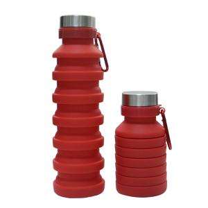 Wholesale Bottles: Customized BPA Free 550ml Silicone Collapsible Water Bottle