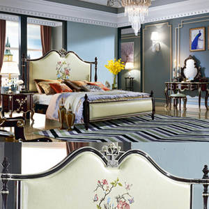 Wholesale bedding sets: Wood Bed Set for Bedroom Furniture (8803)