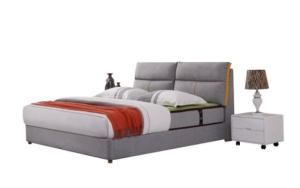 Wholesale Beds: Wooden Bed with Fabric or Leather Covered