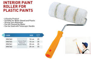 Wholesale Brushes: Interrior Paint Roller for Plastic Paints