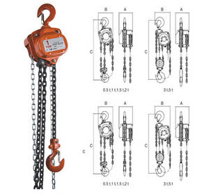 Wholesale hsz type chain block: 30T Heavy Duty Hand Pully Chain Hoist Block