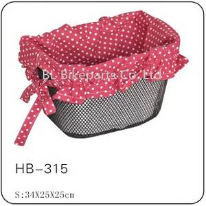 Wholesale garden supply: Factory Supply Garden Wind Rural Steel and Cloth Combination Bicycle Basket