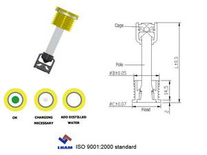 Wholesale Battery Testers: Battery Charge Eye Indicator for Car Battery with 1 Balls B102