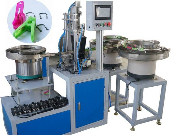 Sell cloth clip clamp assembly machine/clamp assembling machine