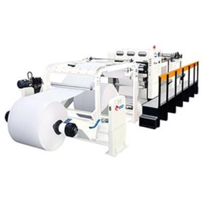 Wholesale rolling machine: Full Automatic High Speed Jumbo Paper Roll Servo Type Paper Cross Cutting Machine Rotary Sheeter