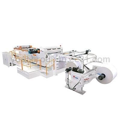 Upper and Lower Rotary High Speed Paper Roll To Sheet Synchronize-fly Synchro Kinfe Cutter Machine