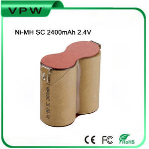 Wholesale ni mh battery packs: High Efficiency Rechargeable 2.4V  Ni-Mh  Battery Pack