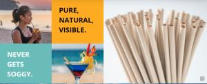Wholesale disposable straws: Natural Plant Eco-friendly Bamboo Fiber Drinking Straw