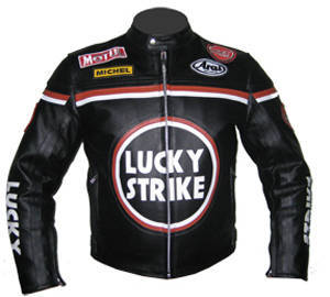 Wholesale custom embroidered clothing labels: Brand New Motorbike A Quality Leather Jacket