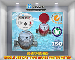 Wholesale Water Meters: Single-jet Dry Type Brass Water Meter