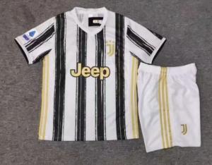 Wholesale football: 20/21 Season Real Madrid PSG Arsenal  Kids Soccer Jersey Football Kit