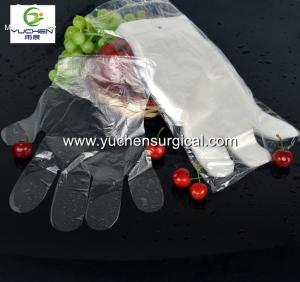 Wholesale Household Gloves: HDPE /LDPE Food Grade Disposable Transparent PE Glove with Embossed